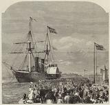 The arrival of Garibaldi at Southampton