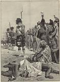 The 42nd Highlanders guarding French prisoners