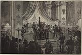 The late Emperor of lying in state in the Church of St Peter and St Paul