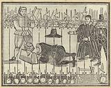 Execution of a man, probably King Charles I