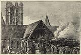 Canterbury Cathedral after the recent fire