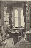 Mr Gladstone in his library at Hawarden Castle