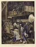 Breaking bulk on board a tea ship