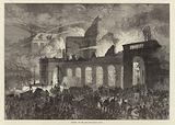 Burning of the old opera house, Paris