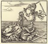 Durer's woodcut of a jousting tournament