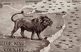British lion defending the Kent coastline