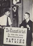 Kasimir Malevich and Vladimir Tatlin at the first International Dada exhibiiton in June 1920