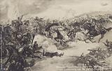 German cavalry attack at the Battle of Tannenberg, World War I, 26-28 August 1914