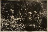Russian soldiers firing a mortar, World War II, 1941-1945