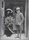 A portrait of Sir Robert and Lady Baden-Powell