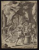 Vulcan forging the weapons of Aeneas