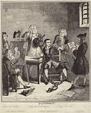 Jack Sheppard having his portrait painted by Sir james Thornhill in prison