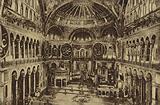Interior of the Hagia Sophia; Constantinople, Turkey