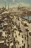 View from the Galata Bridge, Constantinople, Turkey