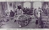 Technical training in the wheelwrights' shop, Dr Barnardo's home, Stepney Causeway, London