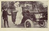 Vesta Tilley getting out of a car