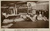 Lace mending at a Long Eaton lace factory, Nottinghamshire