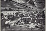 Velour, felt and straw hat remodelling department, Johnson's dye works, Liverpool