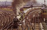 The Bristolian train, headed up by a Great Western Railway Castle Class 4-6-0 locomotive …