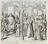 King Edward the 3rd sends his Challenge to Philip de Valois King of France, the Bishop of Lincoln …