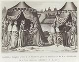 Isabella Daughter of the K. of France, given in Marriage to the K. of England, in a Tent between Ardres & Calais