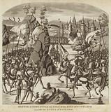 Battle at Newcastle of Tyne of the King of Scotland against the Queen of England