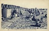 Postcard depicting beach huts on the sands of Le Touquet-Paris-Plage