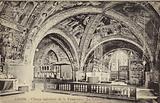 Postcard depicting the apse of the Basilica of San Francesco d'Assisi
