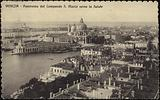 Postcard depicting a panorama from Campanile di San Marco