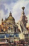 Postcard depicting the Basilica di Santa Maria della Salute
