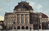 Postcard depicting the facade of the Opernhaus Chemnitz