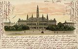 Postcard depicting the town hall in Vienna