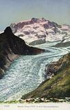 Postcard depicting the Gorner Glacier