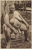 Postcard depicting a Zulu chief
