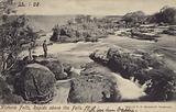 Postcard depicting rapids above Victoria Falls
