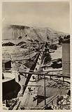 Postcard depicting a mine dump at the Robinson Deep gold mine