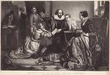 Shakespeare with his family at Stratford on Avon, reciting the tragedy of Hamlet