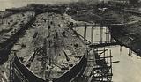 Construction of Soviet oil tankers at the Krasnoye Sormovo shipyard, Gorky, USSR, 1931