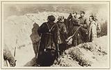 Bolshevik commanders Joseph Stalin and Kliment Voroshilov in the trenches of Tsaritsyn, Russian Civil War, 1918
