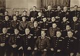 Generalissimo Joseph Stalin with a group of marshals, generals and admirals, deputies in the Supreme Soviet of the USSR, 1945