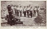 Howitzer and detachment of the Royal Garrison Artillery, Lydd, Kent