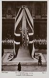 The Cenotaph before its unveiling, Whitehall, London, 11 November 1920