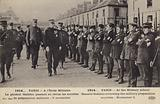 General Joseph Gallieni reviewing members of the societes de preparation militaire at the Ecole …
