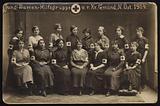 Group of Austrian Red Cross nurses, Gmuend, Austria, World War I, 1914