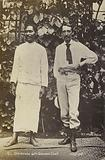 Robert Louis Stevenson with a Samoan chief