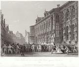 Town Hall with insurrection of the people against Charles V