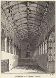 Interior of Crosby Hall in Chelsea