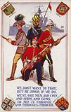 Soldiers of the armies of Canada, India, Australia and Great Britain