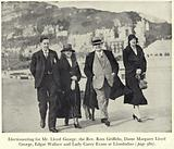 Edgar Wallace electioneering with David Lloyd George