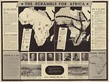 Army Education Scheme poster showing the The Scramble for Africa